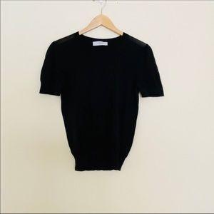 Viktor & Rolf Black Cashmere Short Sleeve Top 40